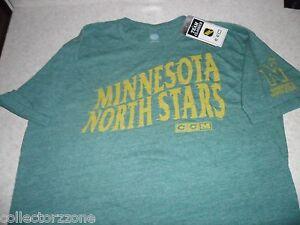 NEW - NHL - CCM TEAM CLASSICS - MINNESOTA NORTH STARS SHIRT - GREEN - MEN - SML