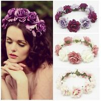 Crown Floral Flower Hair Garland Hair Band Headband Wedding Wreath