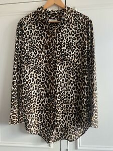 Womens Grey Silk Equipment Shirt Size M