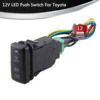 12V Driving LED Light Bar Push Switch Button For Toyota Prado Hilux Landcruiser