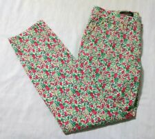 Women's J.Crew Toothpick Floral Ankle Pants Size 29