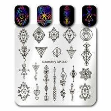 BORN PRETTY  Kunst Nagel Stempel Schablone Nail Art Stamp Geometry Arrow