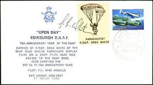 Australia 1996 Edinburg R.A.A.F Parachute Mail Signed Greg White