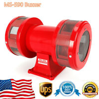 Red Metal Motor Driven Air Raid Siren Double Horn Alarm Two-sides Siren Alarms