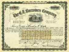 1923 E. T. Burrowes Co Stock Certificate