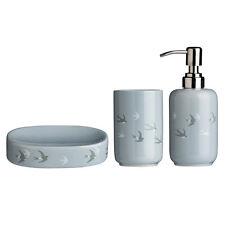 3 piezas de accesorios de baño Diseño Aves Swift Tumbler, Jabonera, Dispensador