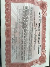 """More details for vintage 1945 - 10 x old share certificates """"havana marine terminals"""" good cond."""
