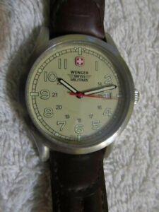 Unused Wenger Swiss Military Mens Quartz Wristwatch Runs New Battery