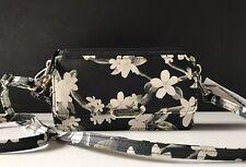 STEVE MADDEN Convertible Wallet Wristlet Crossbody Clutch Black White Floral
