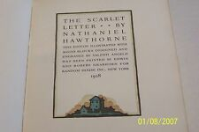 The Scarlet Letter, limited Edition, Nathaniel Hawthorne, 1928, Valenti Angelo