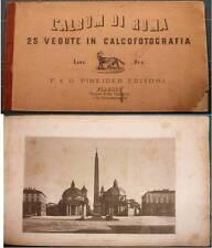 INCISIONI 800 ROMA: ALBUM DI ROMA CON 25 VEDUTE IN CALCOFOTOGRAFIA