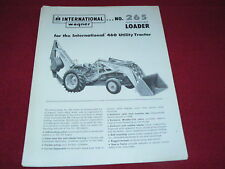 International Harvester Wagner 265 Loader for 460 Tractor Dealer's Brochure