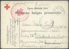 Camp Stalag IVA Elsterhorst 1941 POW from Belgium Red Cross Rote Kreuz K2
