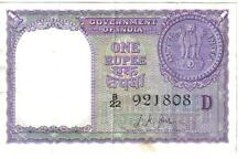 INDIA, 1 RUPEE, P#75d, sign L.K. Jha, 1957