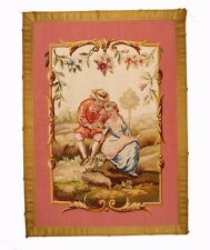 An Antique Wool & Silk Tapestry Panel