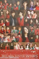 WINTER SMTOWN PROMO POSTER - BoA,TVXQ,Super Junior,Girls Generation,Shinee,Ff(x)