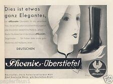 Phoenix Überstiefel Stiefel Reklame 1931 Reitstiefel Deutschland Vaterland Ad