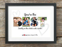 Fathers Day Gift Dad Daddy Stepdad Personalised Print Father Best Grandad Photo