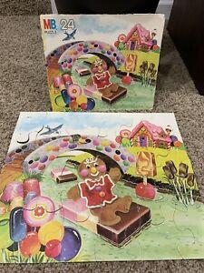 Candy Land 1980's Milton Bradley 24 Pc Puzzle Vintage COMPLETE Gingerbread