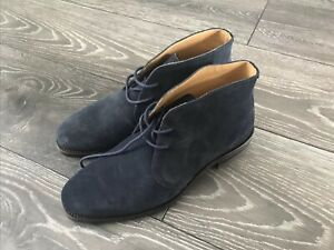 Russell & Bromley Mens Jermyn Blue     Suede Leather Desert Boots Size UK6 New