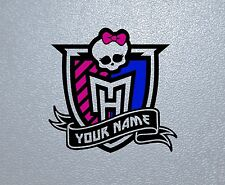 STICKER PEGATINA DECAL VINYL Monster High Personalized