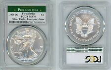 2020 (P) SILVER AMERICAN EAGLE EMERGENCY PCGS MS70 PHILADELPHIA FIRSTSTRIKE 36