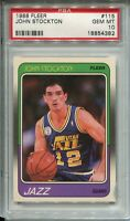 1988 Fleer Basketball #115 John Stockton Rookie Card RC Graded PSA Gem Mint 10