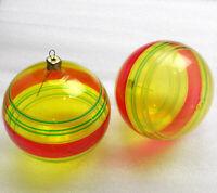 2 Alten Antiker Russen Christbaumschmuck Glas Weihnachtsschmuck Ornament Kugels