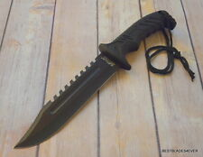 MTECH FIXED BLADE HUNTING KNIFE WITH NYLON SHEATH 12.5 INCH OVERALL