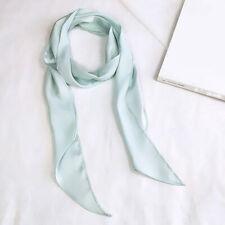 Women Square Scarf Head Neck Silk Skinny Satin Hair Tie Band Small Scarf