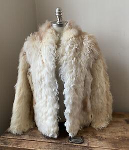 Vintage 70s Mongolian / Tibetan Lamb Fur Coat
