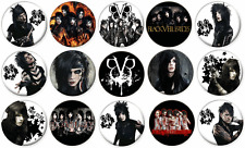"""BLACK VEIL BRIDES - Lot of 15 Pin Back 1"""" Buttons Badges (One Inch)"""