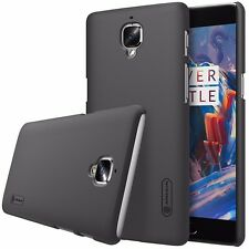 Nillkin Black Frosted Hard Back Case Cover+Screen Protector For OnePlus 3 A3000