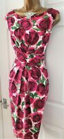 🎀 Phase Eight Leila Rose Floral Party Wedding Evening Occasion Wiggle Dress 16