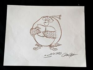 ANGRY BIRDS MOVIE Original Hand Drawn SANDRO CLEUZO SIGNED Bomb Concept Art