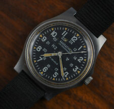 Vintage MARATHON Gallet Military US GOVERNMENT Issue Jan 1985 Manual Wind Watch