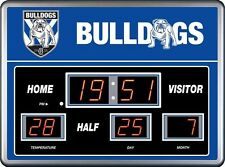 26401 CANTERBURY BULLDOGS NRL SCOREBOARD CLOCK LED DATE TIME THERMOMETER SCORE