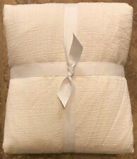 NEW Pottery Barn Teen Organic Relaxed Matelasse Twin Duvet SOFT WHITE