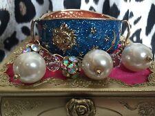 Betsey Johnson Heavens to Betsey Celestial Star Sun Moon Pearl Galaxy Bracelet