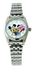 Disney MCK804 Women's Hugging Mickey & Minnie Mouse Analog Stretch Band Watch