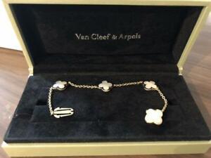 Van Cleef & Arpels Pure Alhambra Bracelet 4-Motifs 18K YG Mother of Pearl Used