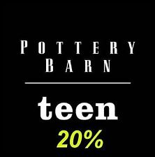Pottery Barn Teen PB Teen Coupon 20% OFF / Expiry - 11/21/20