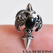 Rock Punk 316L Stainless steel Cross Sword Gothic Men Earrings Ear Screw Stud