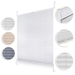 Plissee Klemmfix, verspannt, blickdicht, Sichtschutz Sonnenschutz Jalousie