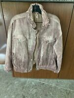 Free People Velvet Zip Up Jacket Size:XSmall/Small  Color:Mauve Pink