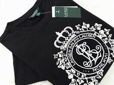 RALPH LAUREN   Damen T-Shirt  black XS & S   UVP: 99€  NEU