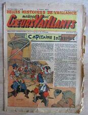Coeurs Vaillants 1946  n° 3   Hergé/Tintin Les  7 Boules de Cristal
