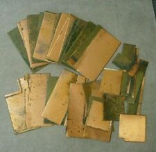 """Copper Sheets 8"""" x 4"""" and pieces Craft Hobby Jewelry Over 6 pounds total"""