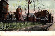 New York America USA ~ 1910 Chapelle Little Church AROUND THE CORNER Verlag étoile