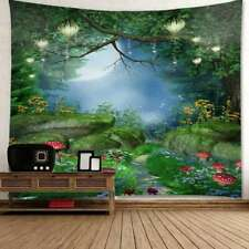 Fantastic Mushroom Forest Print Tapestry Wall Hanging Psychedlic Tapestry Decor